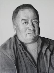 'Ernest Alkhat'. Charcoal on Roma paper.  20 x 30 inches. 2008.
